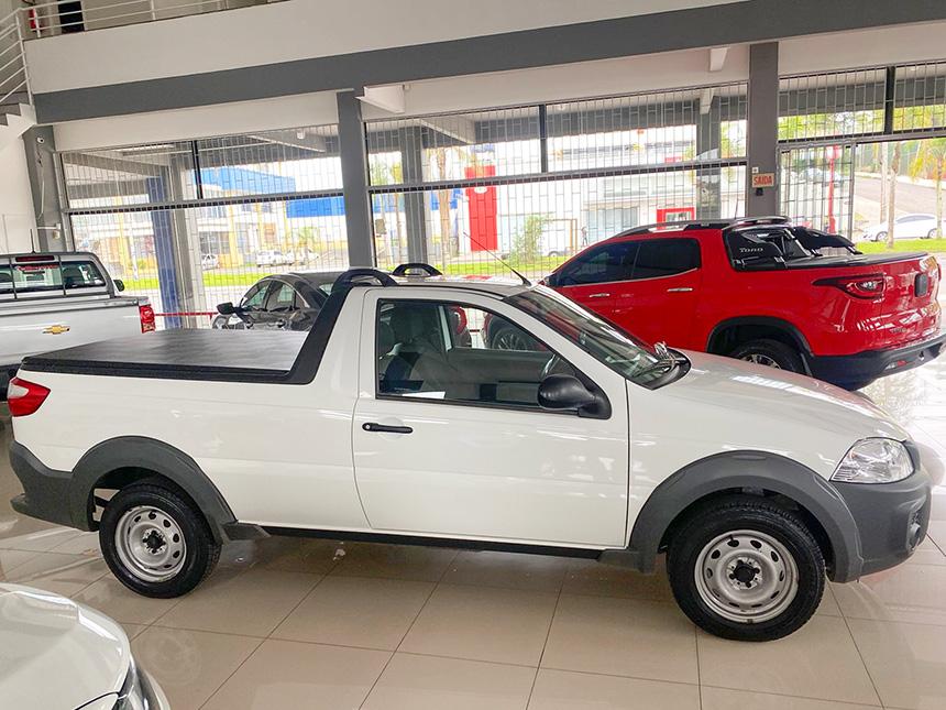 Camioneta fiat strada HD WK CC E 2020-3 na Beretta Automóveis em Criciúma